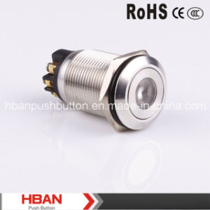 Hban (19mm) DOT-Illumination Momentary Latching Vandalproof Push Button Switch pictures & photos