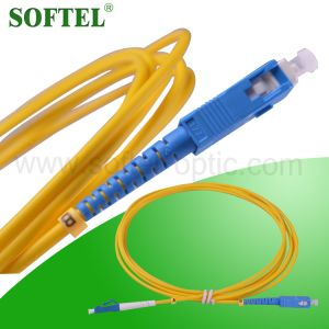 FTTX Solution Provider /12 Core Fiber Optical MPO-LC Patch Cord pictures & photos