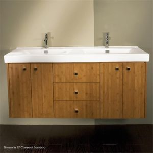 Wall-Mount Undercounter Top Solid Wood Doube Bathroom Cabinet