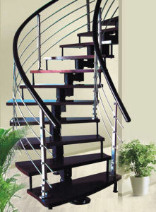 Curved Staircase (PR-C05) pictures & photos