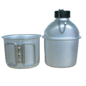 0.8L Al Military Water Bottle pictures & photos