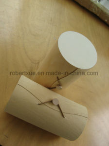 Unfinished Cylinder Shape Wooden Box with Logo pictures & photos
