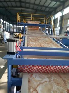 PVC Imination Marble Board Extrusion Line pictures & photos
