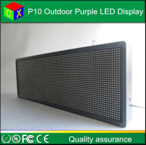 Purple P10 LED Outdoor Display Module 32X16 Matrix 320*160mm Waterproof for P10 Purple Pink LED Scrolling Screen pictures & photos