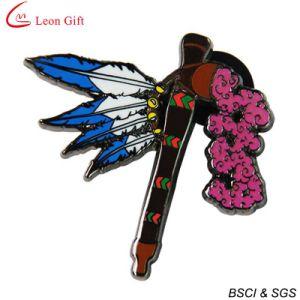 Soft Enamel Black Metal Lapel Pin (LM1020) pictures & photos