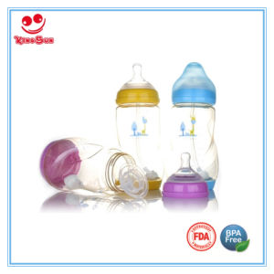 Wide Neck Anti Scald PPSU Baby Feeding Bottle 180ml/300ml pictures & photos