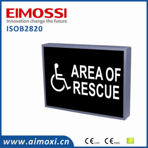 "LED Sw Method Illuminated Door Signs""Area of Rescue""Sign"