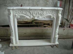 White Marble Fireplace (3) pictures & photos