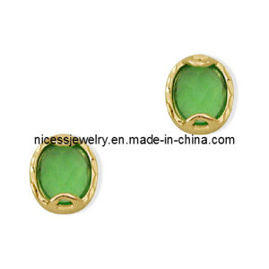 Gold Plated Stainless Steel Stud Greek Earrings for Women (AE70)