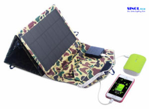 26W Folding Solar Charger with 12V DC and 5V USB Dual-Port Output, Portable Folding Solar Panel Charger for Motorhome, Caravan, Boat/Yacht, Camping pictures & photos