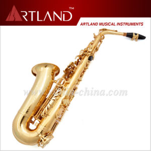 Eb Key Golden Lacquer Finish Alto Saxophone (AAS4506) pictures & photos