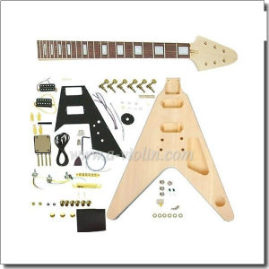 Flying V Style Unfinished DIY Electric Guitar Kits (EGH600-W) pictures & photos