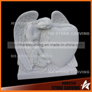 Beautiful Angel with Heart Tombstone for Monument pictures & photos