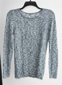 Ladies Linen Rayon Fancy Yarn Knit Pullover Sweater pictures & photos