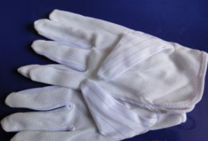 ESD PVC Dotted Slip-Proof Gloves (3W-9512) pictures & photos