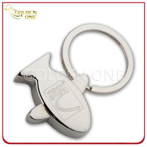Custom Engraving Logo Aircraft Zinc Alloy Metal Keyring pictures & photos