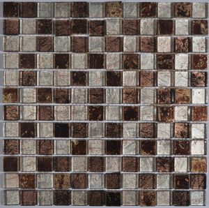 Foil Back Glass Mosaic with Texture for Kitchen pictures & photos