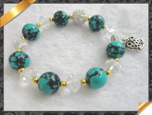 Imitation Bracelet, Bule Turquoise Bracelets, Crystal Bracelet, Owl Bracelets (LW016)