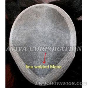Welded Mono Base Men′s Toupee (AV-TP08) pictures & photos