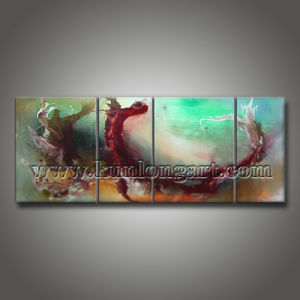 Handmade Abstract Canvas Art Acrylic Painting for Home Decor (KLMA4-0027)