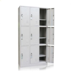 Office Use Steel Wardrobe Locker (9 doors) pictures & photos