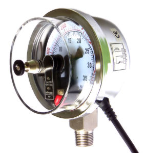 Pressure Gauge with Magnetic Electric Contact (YXC)