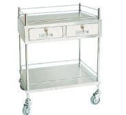 S. S Medical Trolley with 2 Shelves and 2 Drawer (SC-HF31) pictures & photos