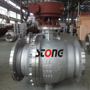 API 2PCS Trunnion Mounted Ball Valve with CF8 150lb pictures & photos