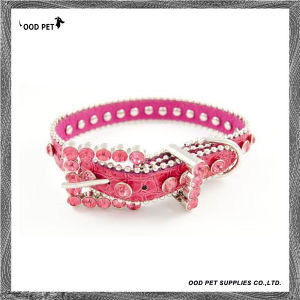 Beaded Crystals Cow Leather Add Croc Dog Collar (SPC7090) pictures & photos