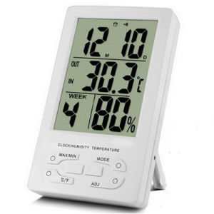 Indoor Thermometer Hygro and Clock (TH96) pictures & photos