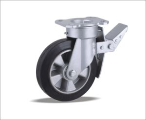 Heavy Duty Swivel Caster With Elastic Rubber Wheel