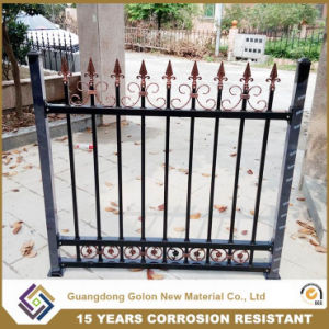 Professional Wrought Iron Aluminum Permanent Garden Fence Panel pictures & photos