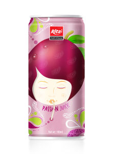 High Quality 180ml Canned Passion Fruit Juice Drink pictures & photos