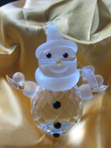 Popular Shape of Crystal Snowman Craft (JDLP-007) pictures & photos