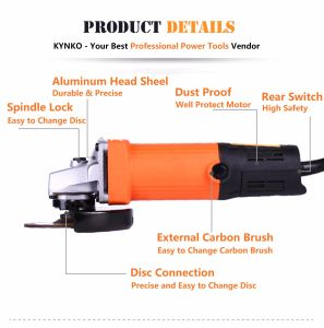720W/100mm Kynko Electric Angle Grinder for Stone (6021) pictures & photos