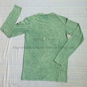 Man Green Premium Burnout Washing Sweatshirt in Sport Knit Wear Jumper Clothes Fw-8668 pictures & photos