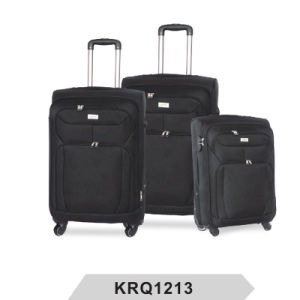 3PCS 1200d Polyester 4wheels Iron Trolley Luggage pictures & photos