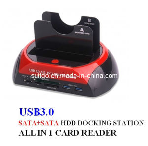 USB3.0 Double SATA Multi-Function HDD Docking