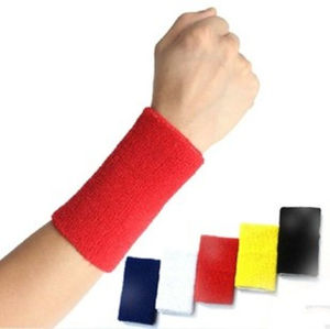 Wrist Band, Plain Solid Color, Cotton +Spandex Material for Outdoor Sports (YT- 261) pictures & photos
