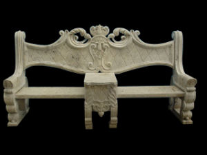 Garden Outdoor Furniture Marble Carving Limestone Bench (BNH321) pictures & photos