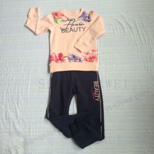 Winter Fleece Kids Girl Sport Suit Clothes in Children ′s Apparel Sq-6211 pictures & photos