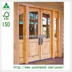 Swing Knotty Pine Double Front Wood Door