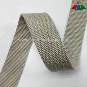 3cm Golden Thread Polyester Cotton Webbing pictures & photos