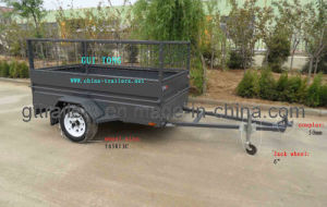 Power Coated Box Trailer with Cage 0309 (6*4) pictures & photos