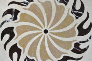 Black/Brown Vortex Square Marble Polished Flooring Tile