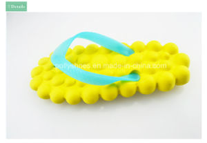 High Quality EVA Yellow Girl Slipper Flip Flops pictures & photos