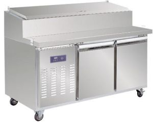 2-Door Commercial Pizza Table Undercounter Refrigerator pictures & photos