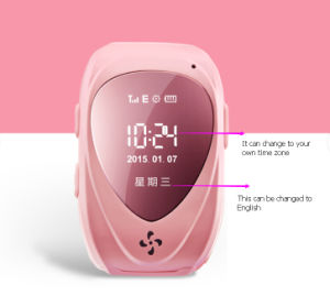 Emergency GPS Tracker Security Children Kids Smart Watch with SIM Card Slot Sos Phone Call pictures & photos