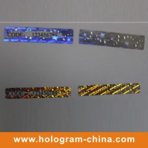 Security Anti-Fake Hologram Scratch off Sticker pictures & photos