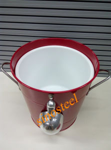 Promotion Cheap Ice Bucket with Lid & Scoop pictures & photos
